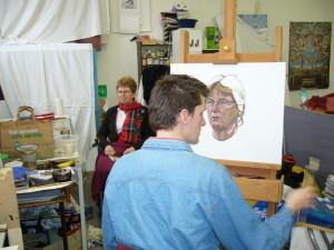 Portrettekenen bij Schilderstudio Wycher